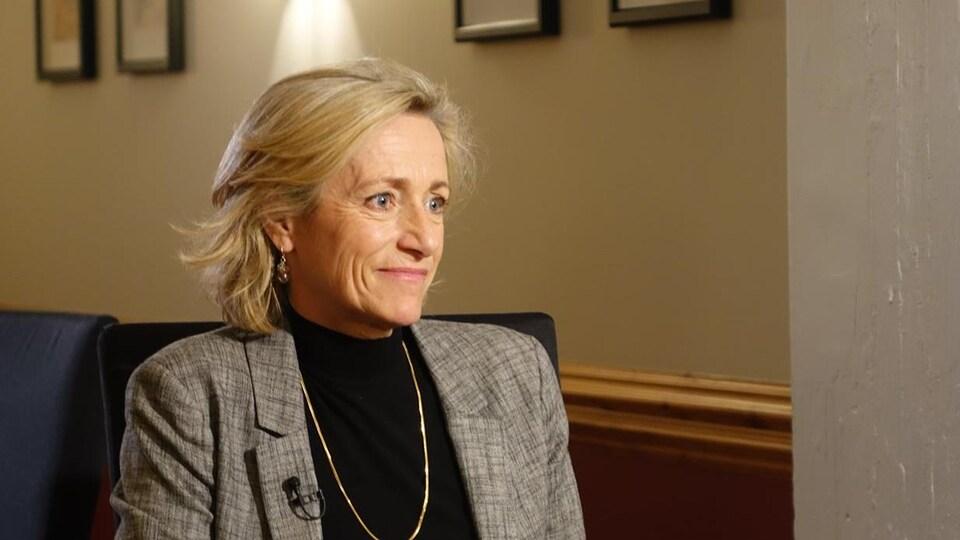 Joanne Castonguay en entrevue.