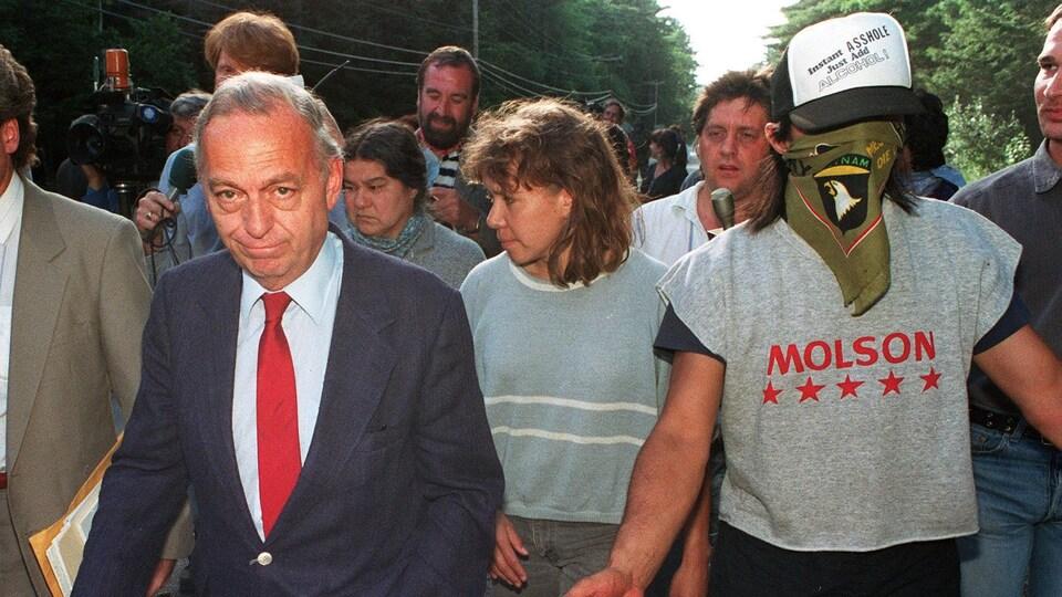 John Ciaccia lors de la crise d'Oka.