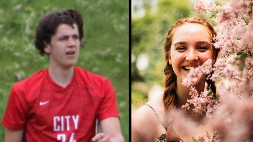 Une photo composée de deux images une de John Geerdes et l'autre d'Emma Machado.