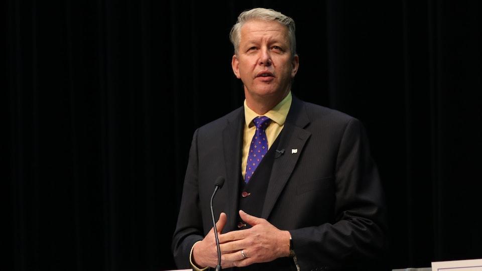 John Lohr lors d'un débat en juin 2018.