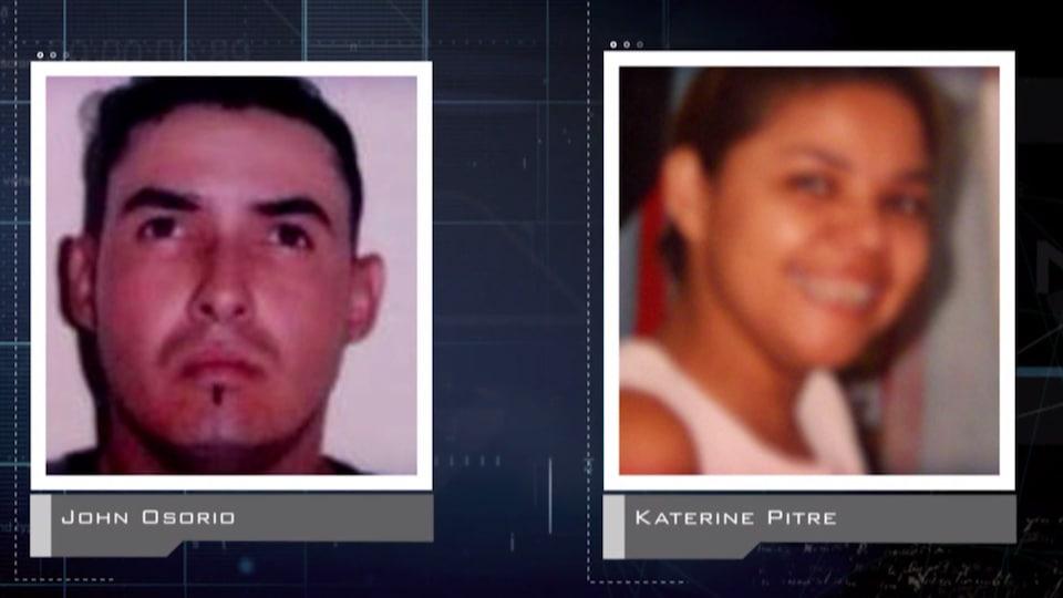 John Osorio et Katherine Pitre.