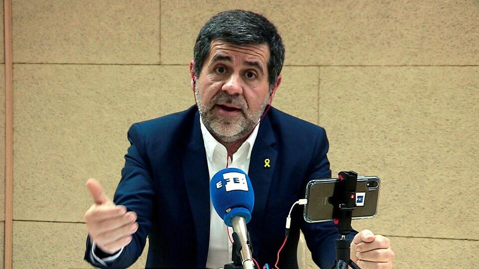 Le politicien catalan emprisonné Jordi Sanchez.