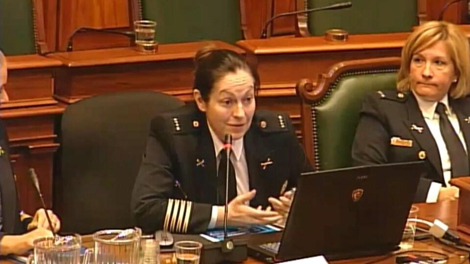 Josée Blais, inspectrice en chef au service de l'administration du SPVM.