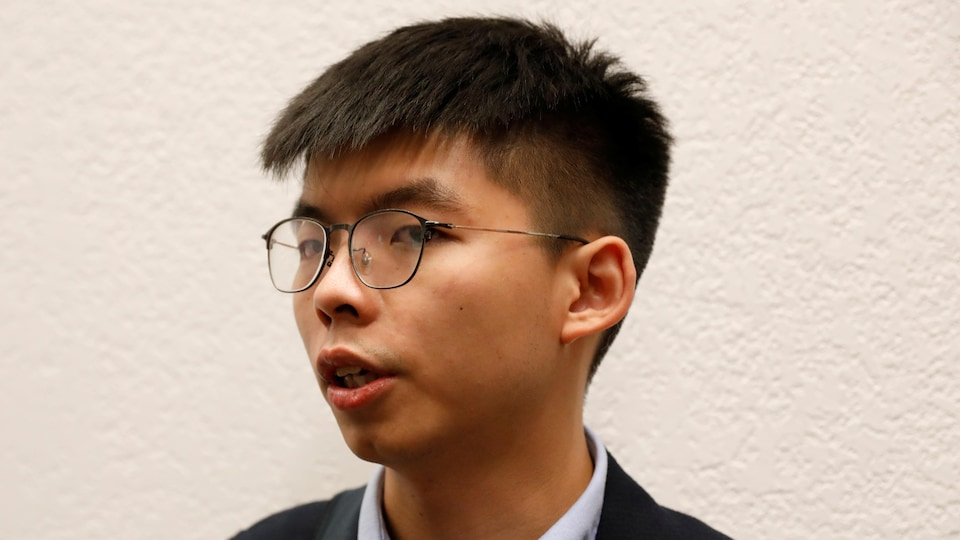 Photo de profil de la tête de Joshua Wong.