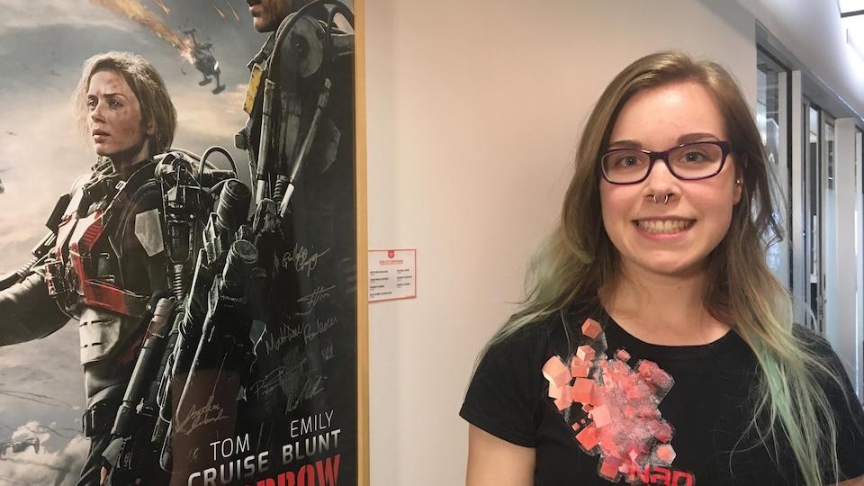 Josianne St-Pierre doit travailler plus fort que les hommes pour faire sa place dans le monde des jeux vidéo comme créatrice.