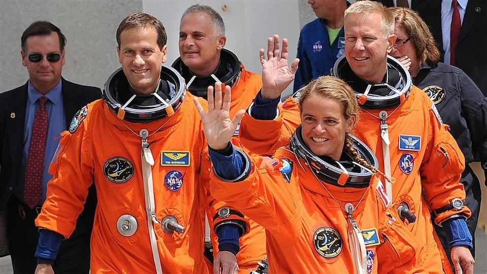 L'astronaute Julie Payette, le 13 juillet 2009, en Floride.