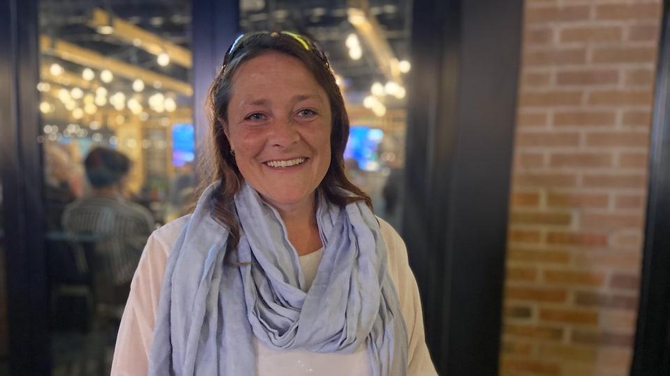 Black Quebecois MP Julie Vignola smiles after her victory.