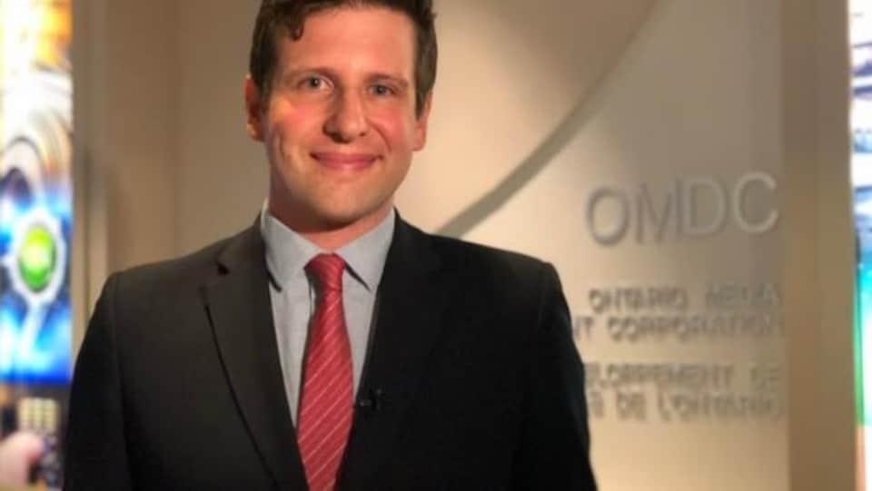 Justin Cutler, le commissaire du Film à la Société de développement de l'industrie des médias de l'Ontario