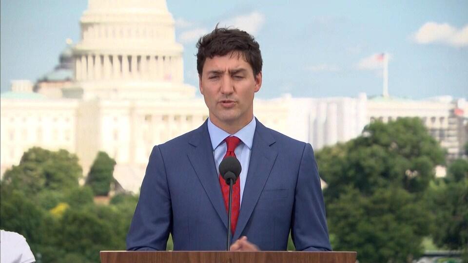Le premier ministre du Canada Justin Trudeau, à Washington.