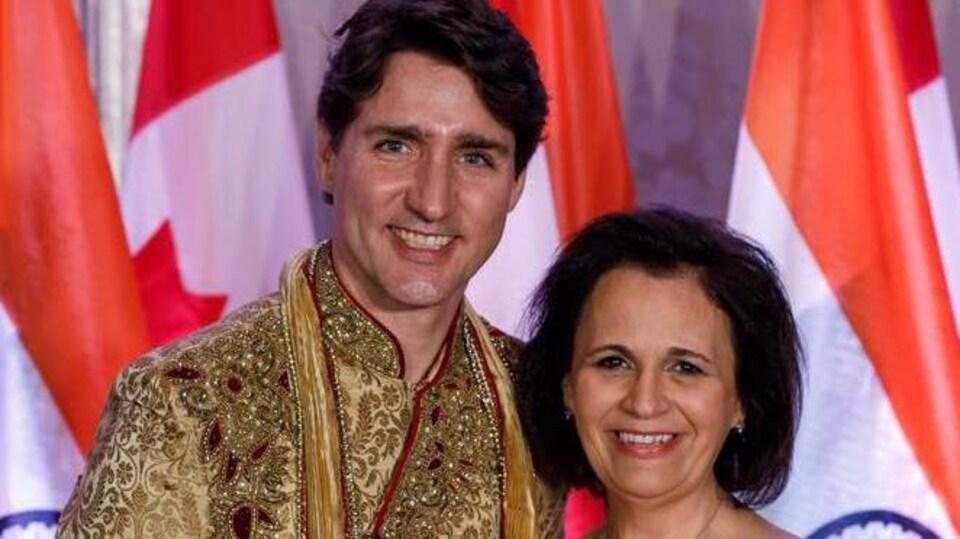 Une photo de Trudeau et Mastantuono en Inde