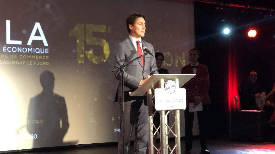 Justin Trudeau lors de son discours