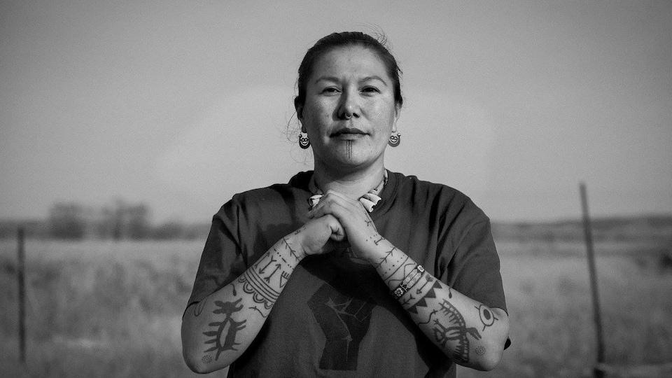 La militante autochtone Kanahus Manuel