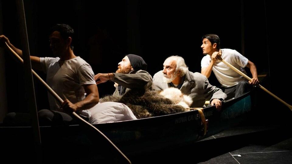 La pièce «Kanata», en répétition en 2016.