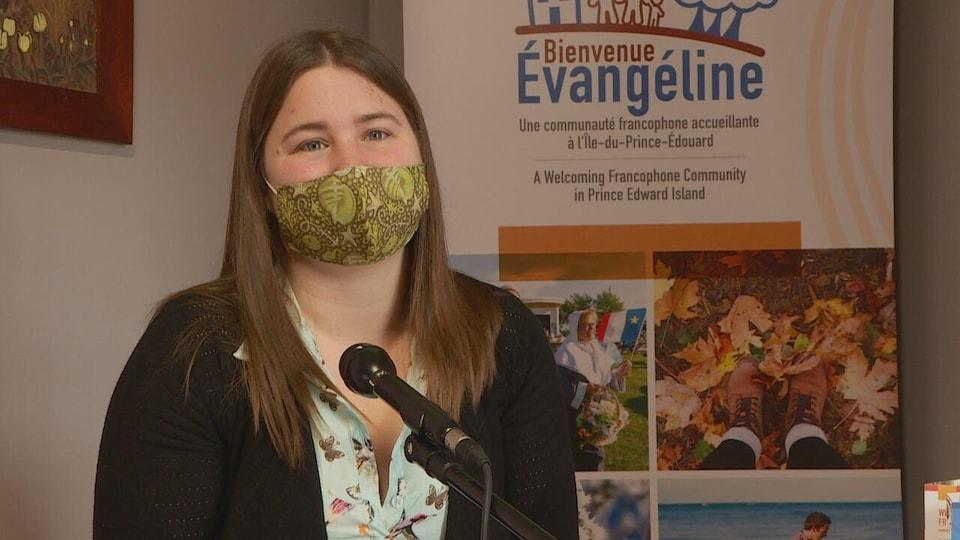 Karine Gallant, coordonnatrice du projet Bienvenue Évangéline de la Coopérative d'intégration francophone de l'Île-du-Prince-Édouard.