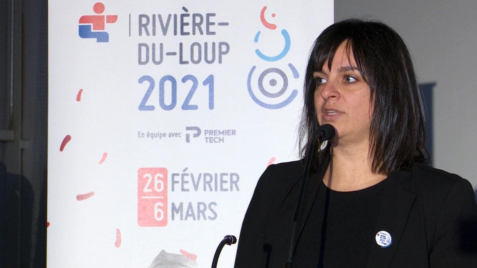 La directrice générale de la Finale provinciale de jeux du Québec 2021 à Rivière-du-Loup.
