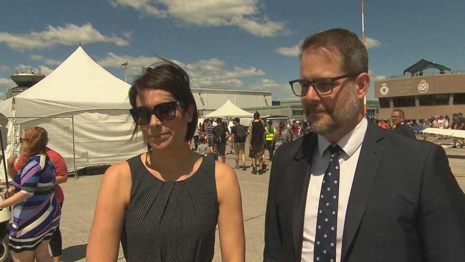Karine Trudel et Alexandre Boulerice répondent aux questions de la presse.