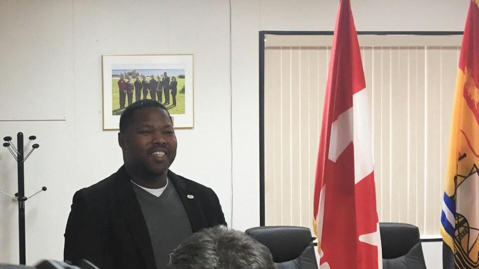 Kassim Doumbia, vice-président de la SNA, est conseiller municipal de la Ville de Shippagan