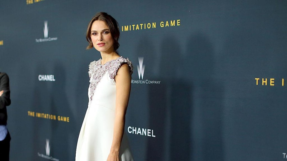 "LOS ANGELES, CA - NOVEMBER 10:  Actress Keira Knightley attends the screening Of The Weinstein Company's ""The Imitation Game"" hosted by Chanel at DGA Theater on November 10, 2014 in Los Angeles, California.  (Photo by Mark Davis/Getty Images)"