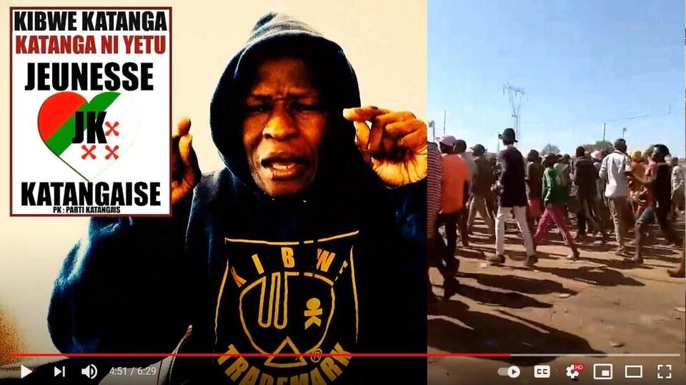 Kibwe Ngoie-Ntombe dans une vidéo sur YouTube.