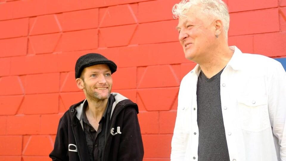 Kieran Collins et son père, Wayne.