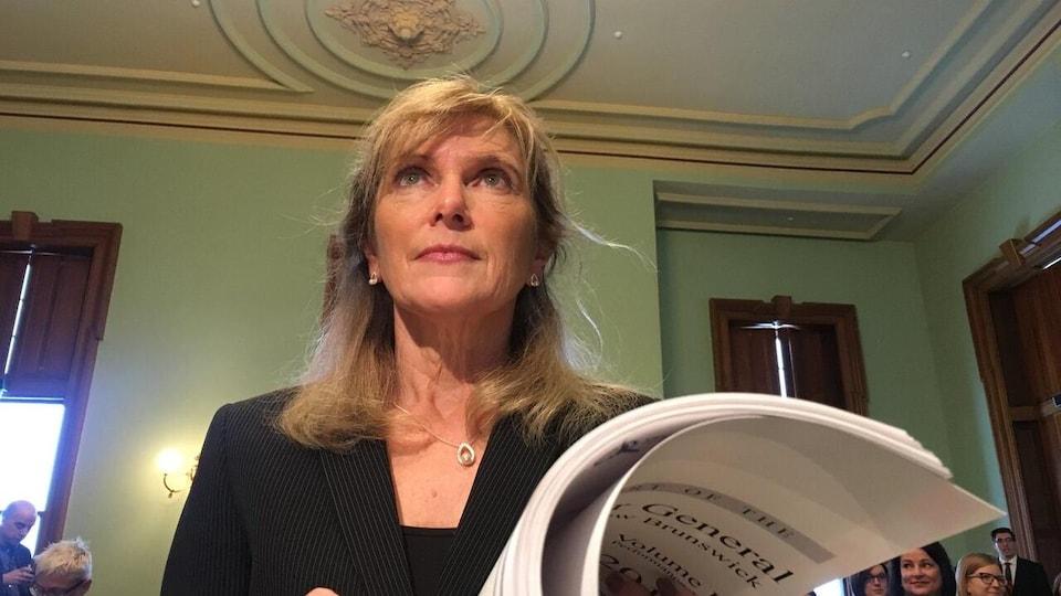 La vérificatrice générale du Nouveau-Brunswick, Kim Adair-Macpherson, a présenté les volumes II et III de son rapport, le mardi 23 février 2021.