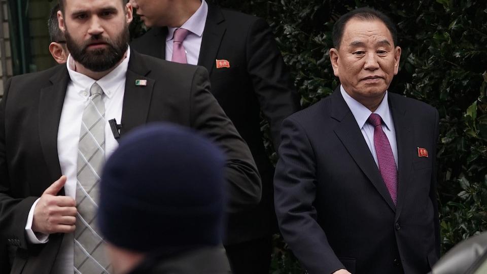 Le général Kim Yong-chol, bras droit du leader nord-coréen Kim Jong-un, était à Washington, vendredi.