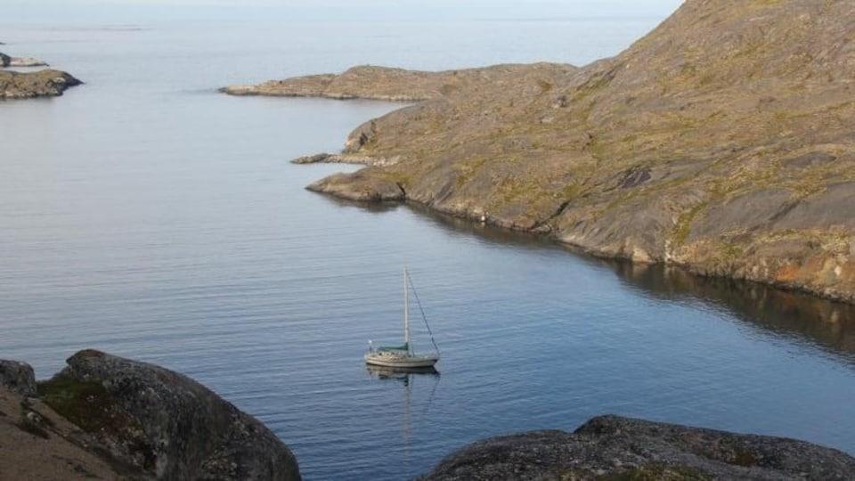 Le voilier Kiwi Roa en mer.