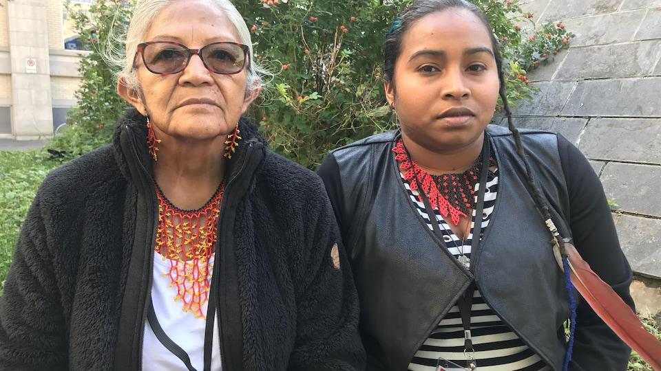 Chef Cécile Kouyouri et Mawalum Amandine Galima, porte-parole de la Jeunesse autochtone de Guyane, étaient de passage à Montréal en septembre 2019.