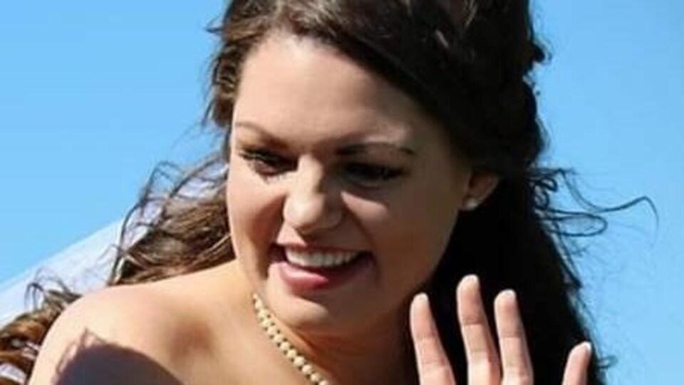 Kristen Beaton, le jour de son mariage.