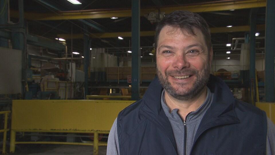 Le directeur général de l'usine Kruger de Trois-Rivière, Sylvain Houle.