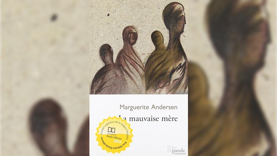 Couverture du livre avec des dessins de personnages en forme d'ombres