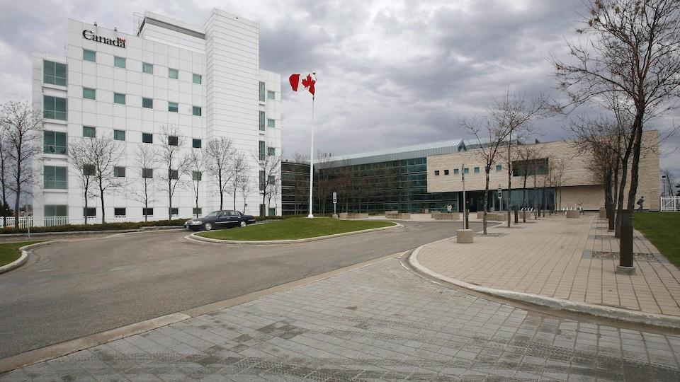 Le Laboratoire national de microbiologie, situé à Winnipeg.