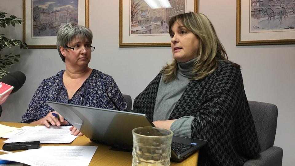 Odette Hébert et Chantal Crête en entrevue