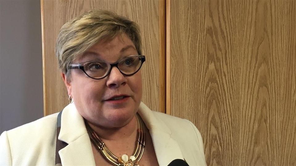 La député libérale de Francine Landry