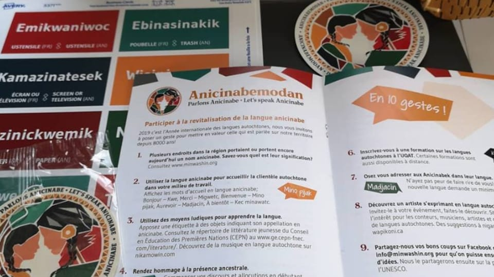 La trousse Anicinabemodan pour promouvoir la langue et de la culture autochtone.