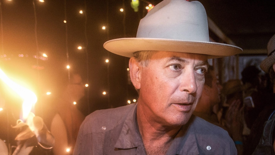 Larry Harvey, fondateur de Burning Man, en 2011