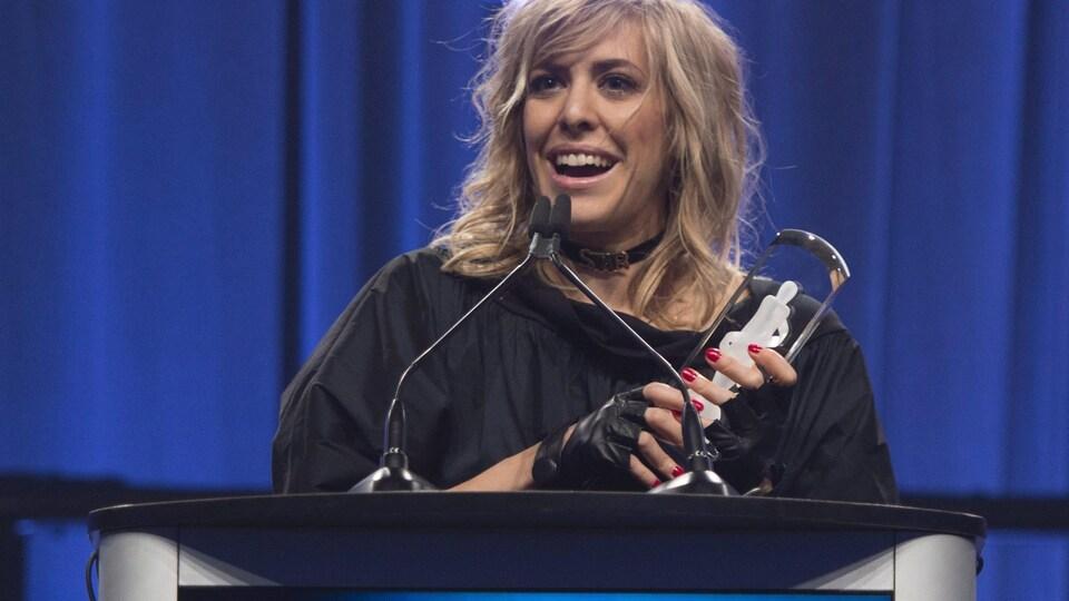La chanteuse Laurence Nerbonne a remporté le prix de l'album francophone au 46e Gala des prix Juno, à Ottawa.