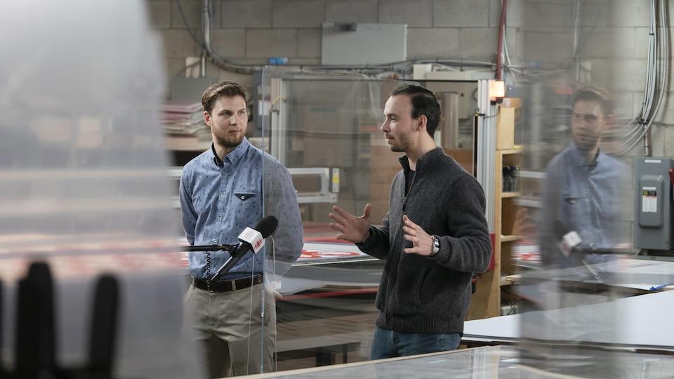 Cette PME se spécialise dans la fabrication de plexiglas.