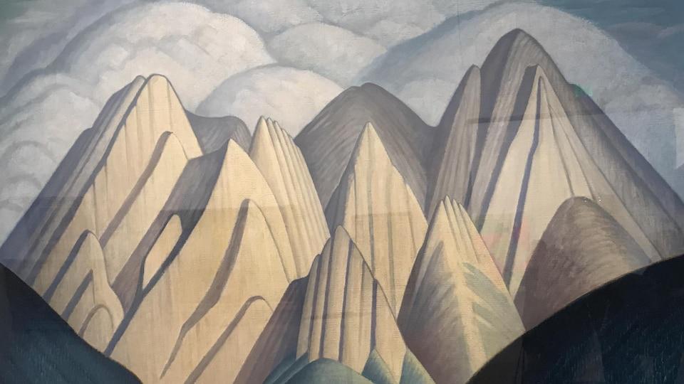 Cette toile du peintre canadien Lawren Harris, membre du Groupe des sept, est l'une des oeuvres de plus grande valeur au musée Remai.