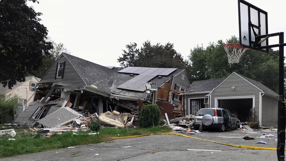 Une maison détruite