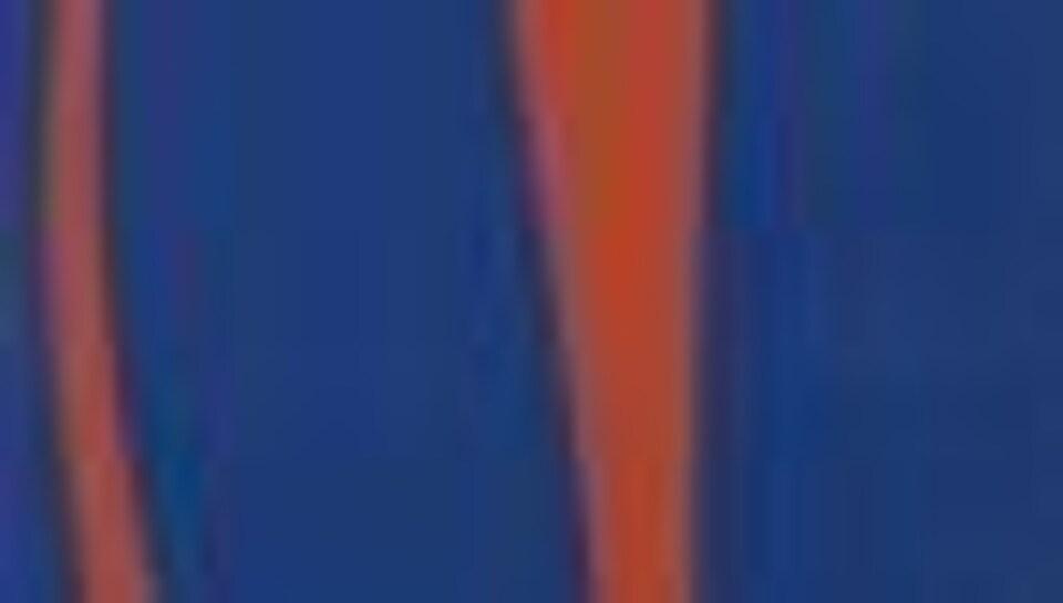 Fernand Leduc Chromatisme binaire indigo vermillon,1964