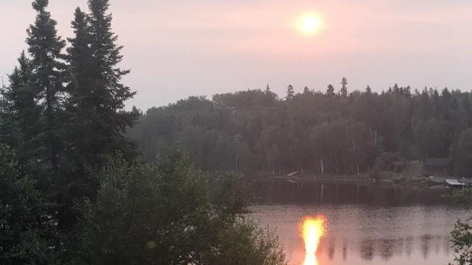 Un lever de soleil à Red Lake.