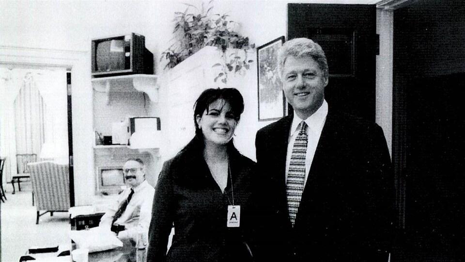 Monica Lewinsky, lors de sa rencontre du président Bill Clinton.