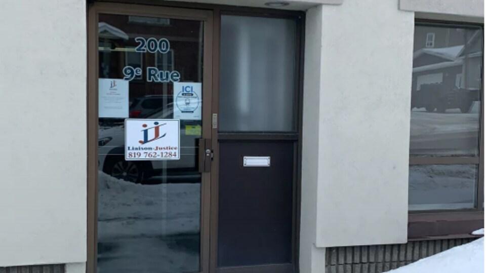 Le bureau de Liaison-Justice à Rouyn-Noranda.