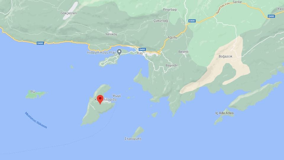 L'île grecque de Kastellorizo se trouve à deux kilomètres de la Turquie