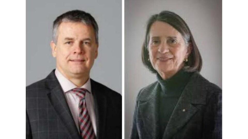 Sylvain Caron et Line Carbonneau.
