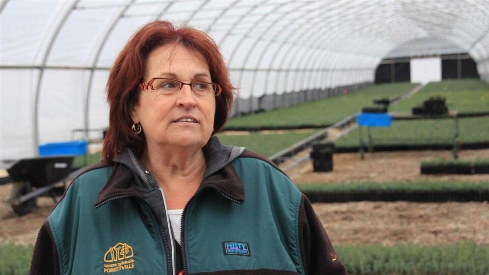 Line Sirois, travailleuse sylvicole et présidente d'Action chômage Haute-Côte-Nord