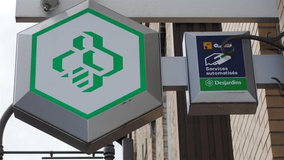 Logo de la Caisse Desjardins.