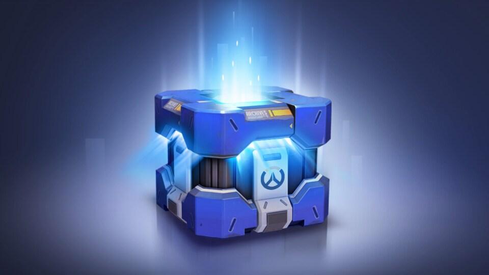 Une capture d'écran du site web de Blizzard Entertainment montrant une page sur laquelle sont proposés des coffres à butin à différents prix pour le jeu Overwatch.