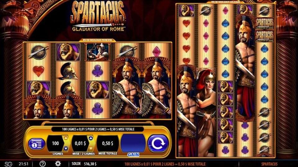 Un écran du jeu Spartacus.